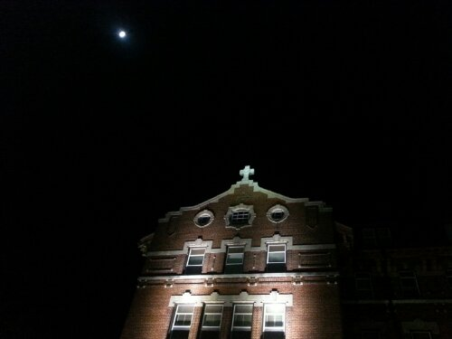 Moon over Chaminade Hall